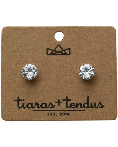 Tiaras + Tendus 8mm Dance Competition Stud Rhinestone Earrings - Accessories - Jewelry - Dancewear Centre Canada
