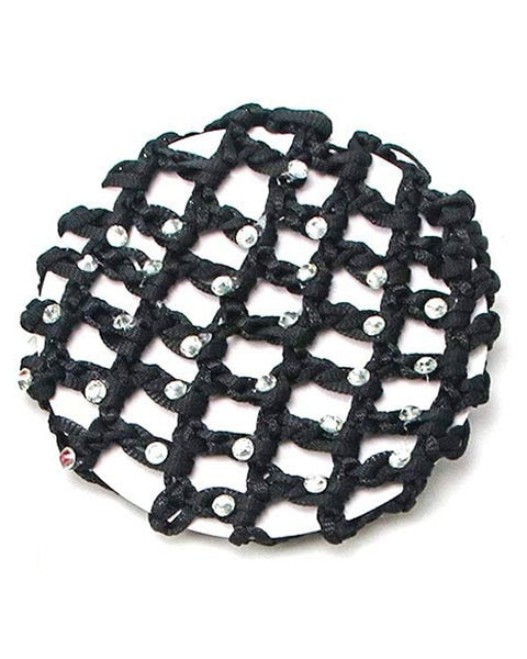Tiaras + Tendus Crocheted Rhinestone Snood Ballet Bun Cover