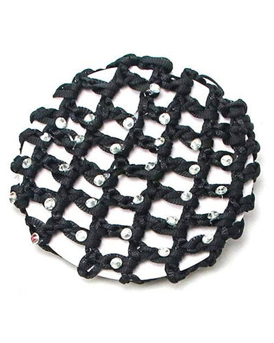 Tiaras + Tendus Crocheted Rhinestone Snood Ballet Bun Cover - Accessories - Hair Care - Dancewear Centre Canada