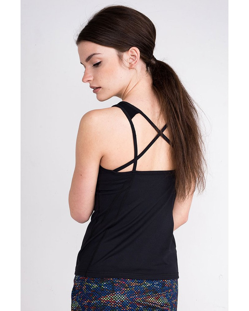 Tonic Active - Force Tank Top Black Womens - Activewear - Tops - Dancewear Centre Canada
