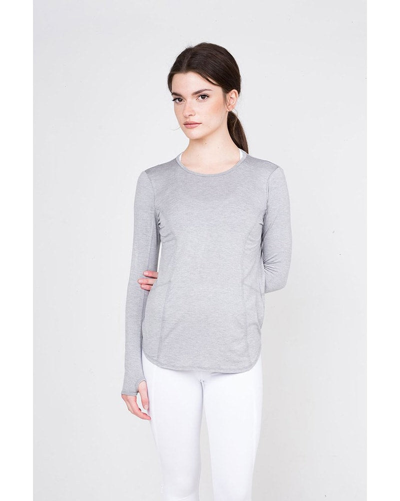 Tonic Active Rayder Long Sleeve Top - Womens - Vapor Grey - Activewear - Tops - Dancewear Centre Canada