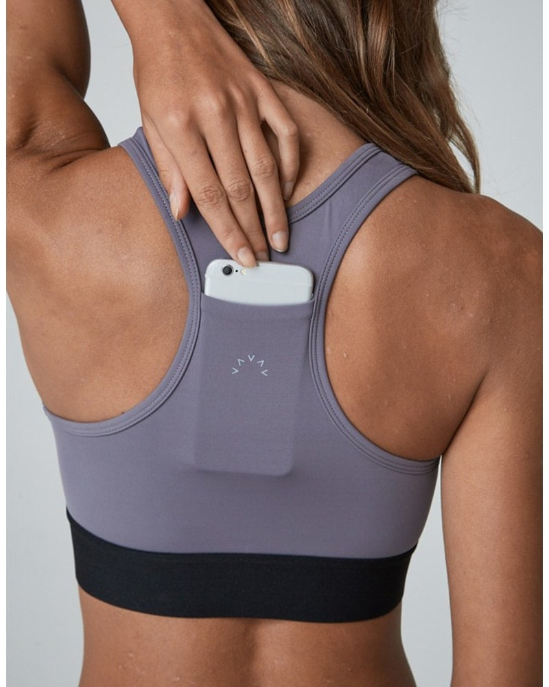 Varley Aspen Bra - Womens - Excalibur Grey - Activewear - Tops - Dancewear Centre Canada