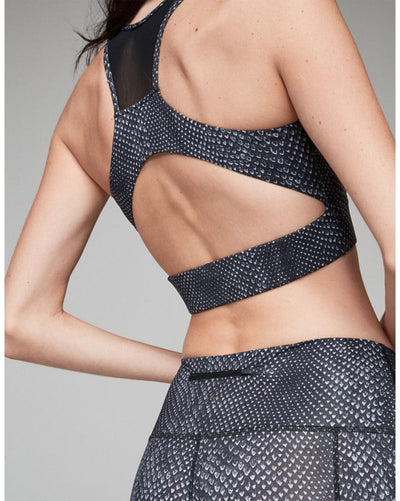 Varley Bandini Crop Sports Bra - Womens - Dark Moon Snake Print - Activewear - Tops - Dancewear Centre Canada
