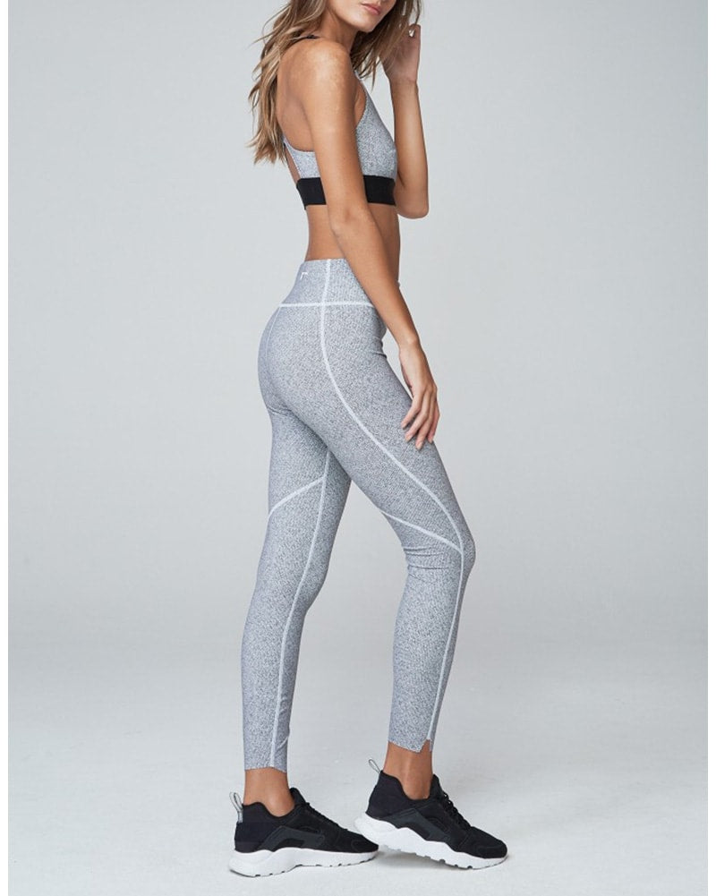 Varley Bates Legging - Womens - Black/White Herringbone - Activewear - Bottoms - Dancewear Centre Canada