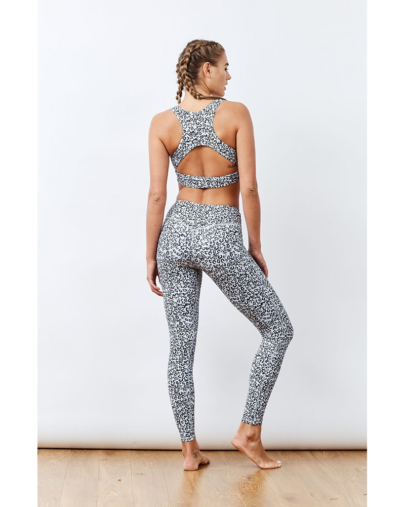 Varley Brooks Sports Bra - Womens - Sky Leopard Print - Activewear - Tops - Dancewear Centre Canada