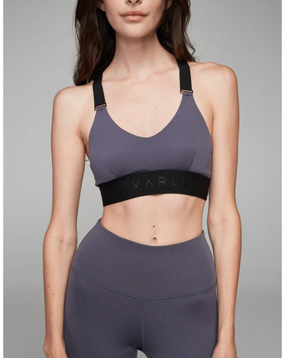 Varley Gale Sports Bra - Womens - Slate - Activewear - Tops - Dancewear Centre Canada