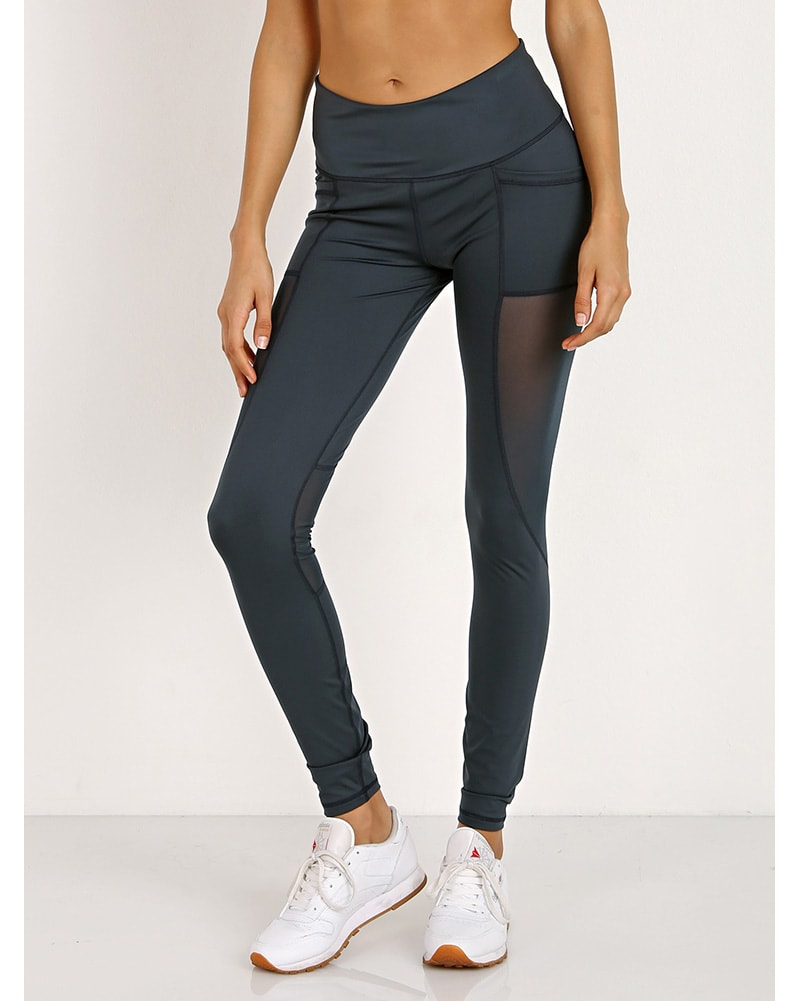 Varley Venice Mesh Legging - Womens - Deep Sea Green - Activewear - Bottoms - Dancewear Centre Canada