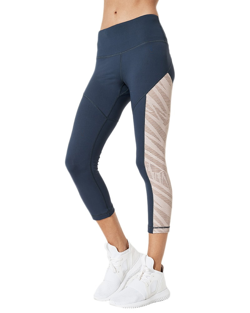 Vimmia Attitude Capri Legging - Womens - Night Print - Activewear - Bottoms - Dancewear Centre Canada