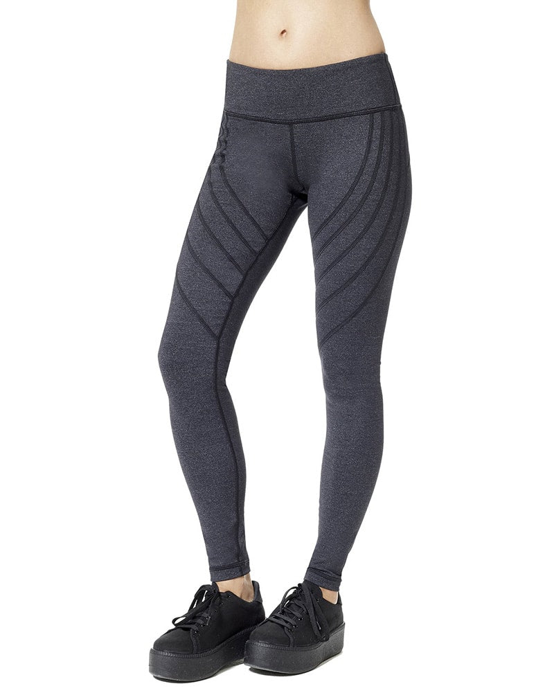 Vimmia Strive Seamed Legging - Womens - Charcoal - Activewear - Bottoms - Dancewear Centre Canada