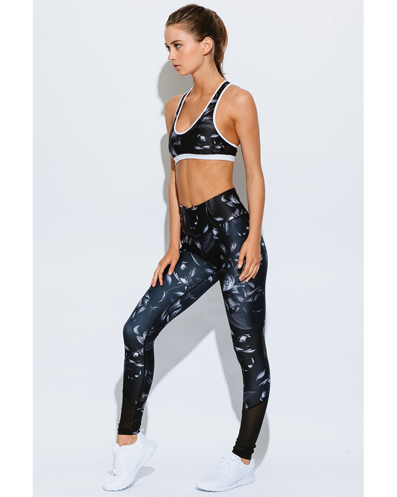 We Are Handsome Active High Waist Legging - Womens - Noir Print