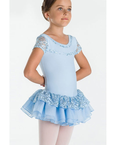 Wear Moi Bonheur Soft Sequin Mesh Short Sleeve Ballet Dress - Girls - Dancewear - Dresses - Dancewear Centre Canada