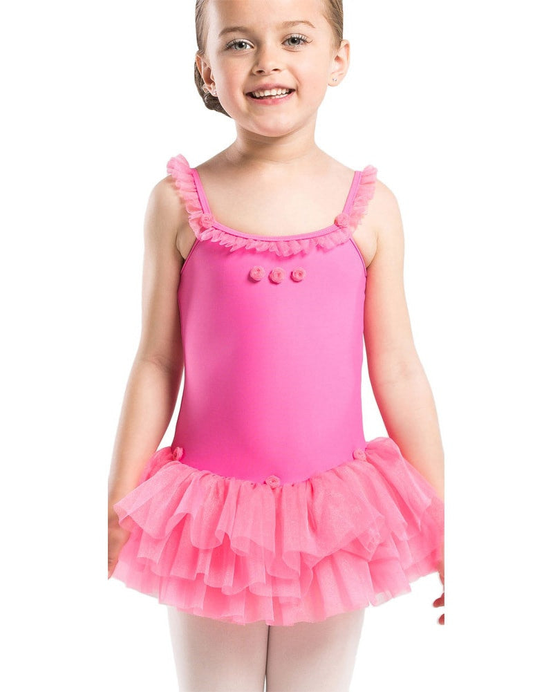 7e7ee8ab8 Wear Moi Praline Glitter Tulle Flower Tank Ballet Dress - Girls - Dancewear  - Dresses -