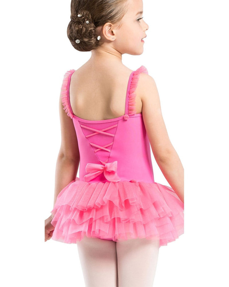9802c4184 Wear Moi Praline Glitter Tulle Flower Tank Ballet Dress - Girls - Dancewear  Centre Canada