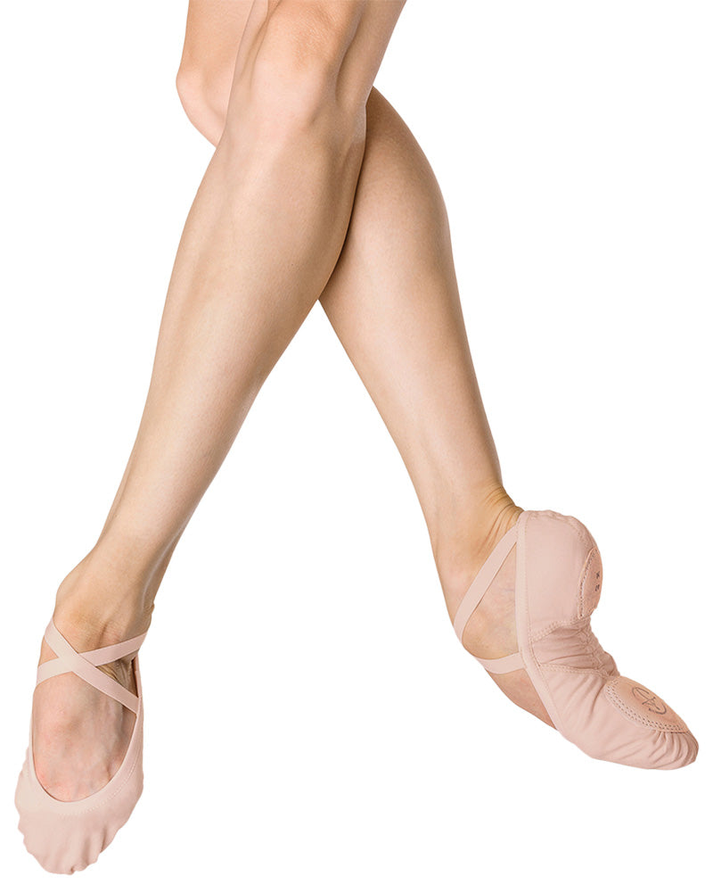 Wear Moi Vesta - Premium Stretch Canvas Arch Support Split Sole Ballet Slippers Womens