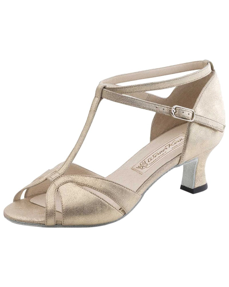 Werner Kern Dora T-Strap Nappa Leather 5.5 cm Latin Ballroom Shoes - Womens - Dance Shoes - Ballroom & Salsa Shoes - Dancewear Centre Canada