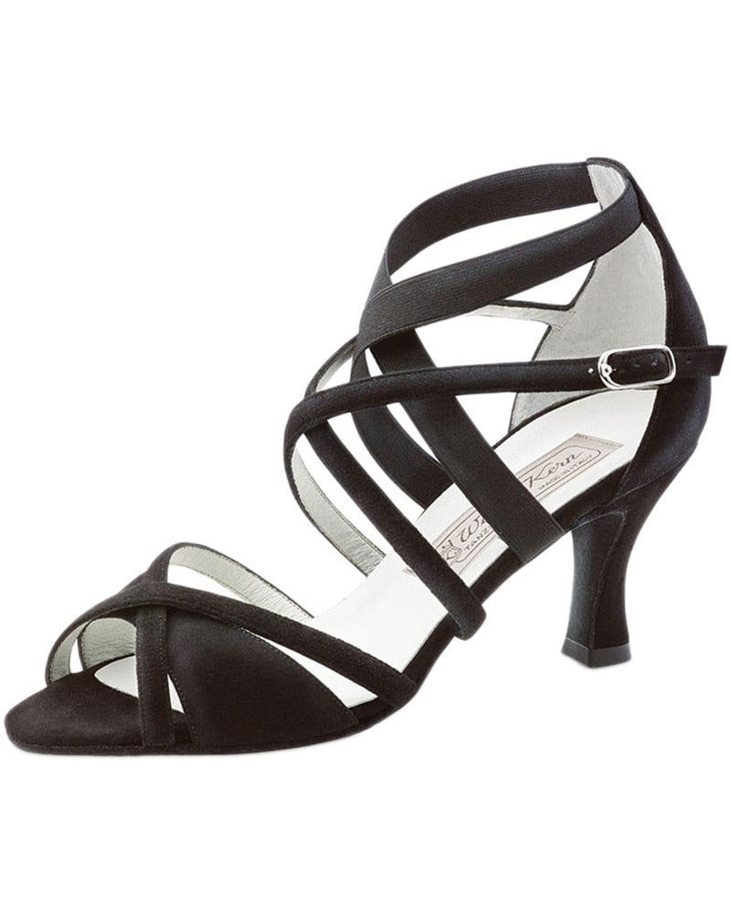 Werner Kern Elsa Cross Strap Suede 6.5 cm Latin Ballroom Shoes - Womens