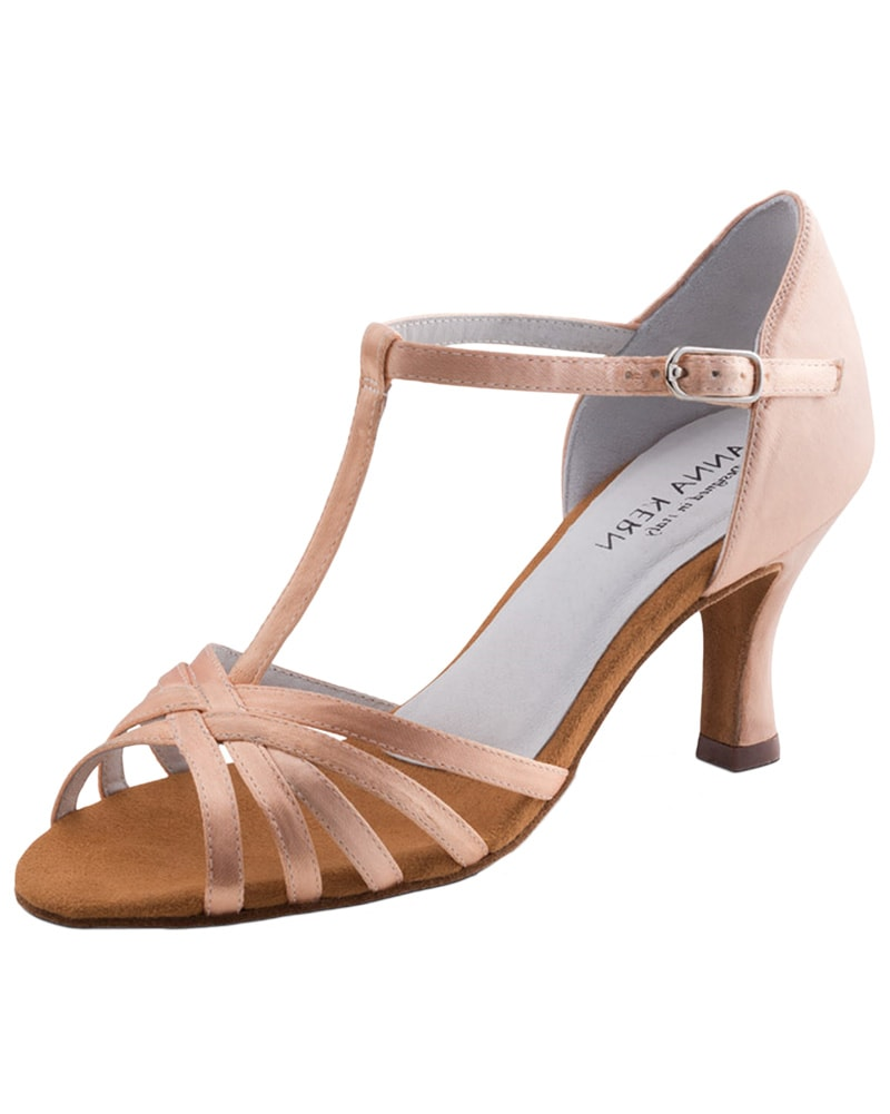 Werner Kern T-Strap Satin 6 cm Latin Ballroom Shoes - 470-60 Womens - Dance Shoes - Ballroom & Salsa Shoes - Dancewear Centre Canada