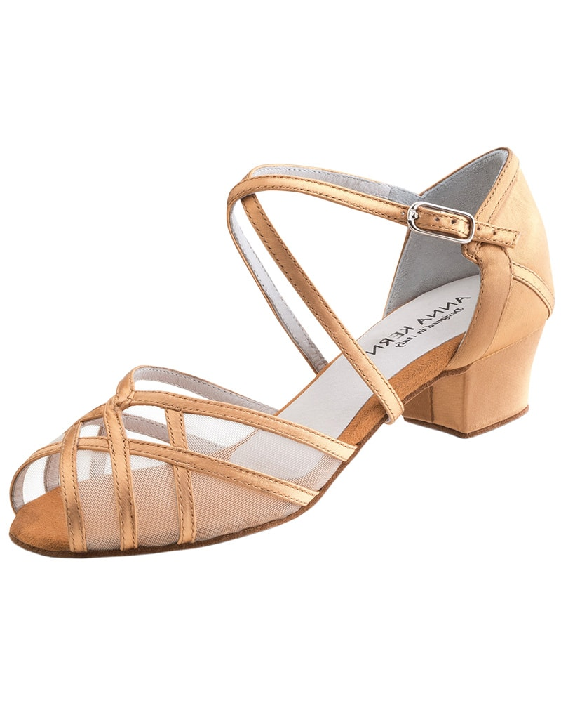 Werner Kern Cross Strap Satin 3.5 cm Latin Ballroom Shoes - 520-35 Womens - Dance Shoes - Ballroom & Salsa Shoes - Dancewear Centre Canada