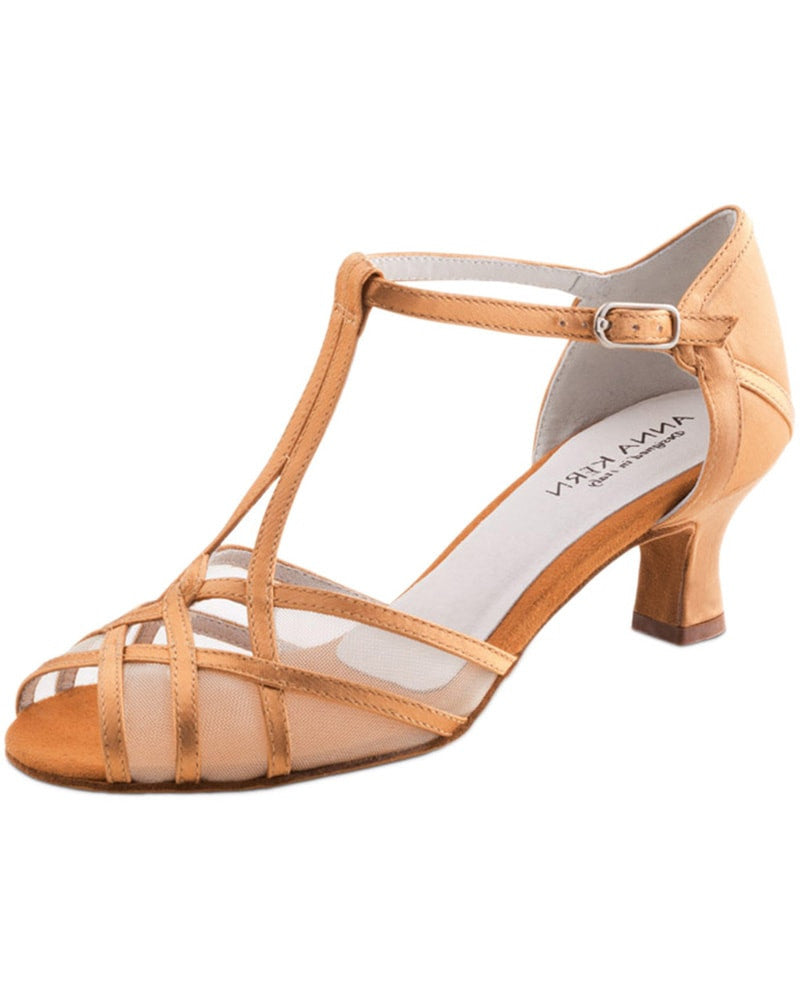 Werner Kern 540-50 - Interlooped Transparent Mesh Satin 5 cm Latin Ballroom Shoes Womens