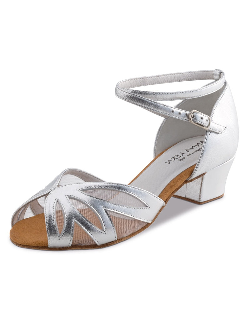 Werner Kern Open Toe Mesh Leather 3.5 cm Latin Ballroom Shoes - 599-35 Womens - Dance Shoes - Ballroom & Salsa Shoes - Dancewear Centre Canada