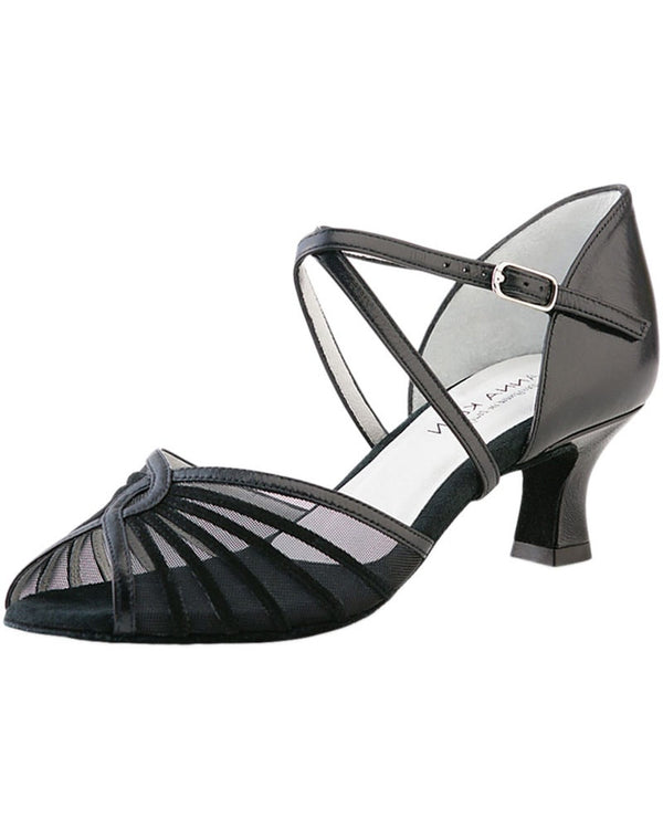 Werner Kern 624-50 - Crossed Mesh Leather 5 cm Latin Ballroom Shoes Womens - Dance Shoes - Ballroom & Salsa Shoes - Dancewear Centre Canada