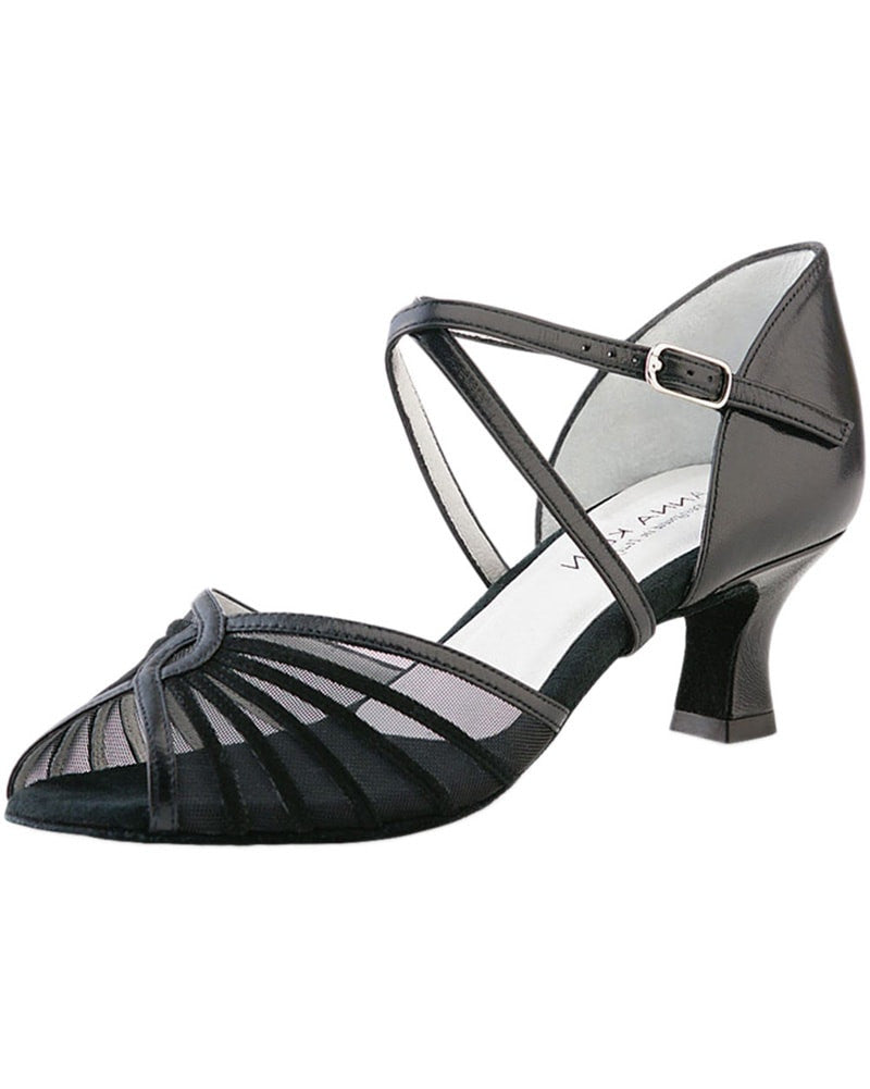 Werner Kern Crossed Mesh Leather 5 cm Latin Ballroom Shoes - 624-50 Womens