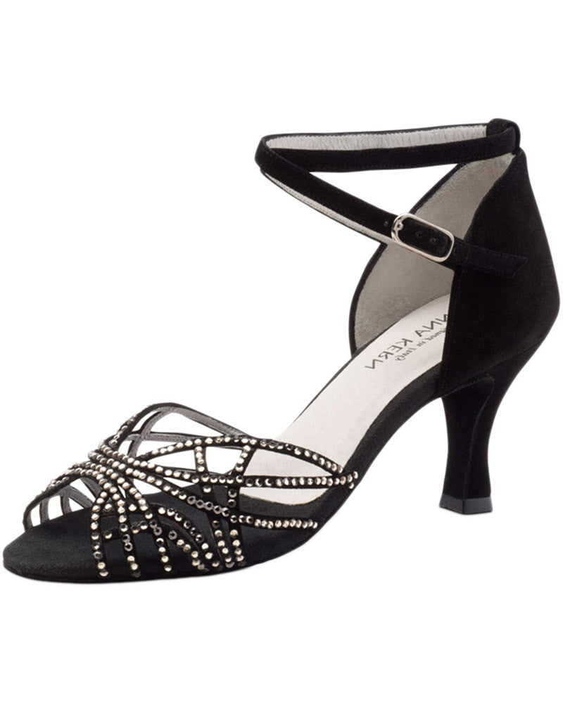 Werner Kern Rhinestone Web Suede 6 cm Latin Ballroom Shoes - 700-60 Womens - Dance Shoes - Ballroom & Salsa Shoes - Dancewear Centre Canada