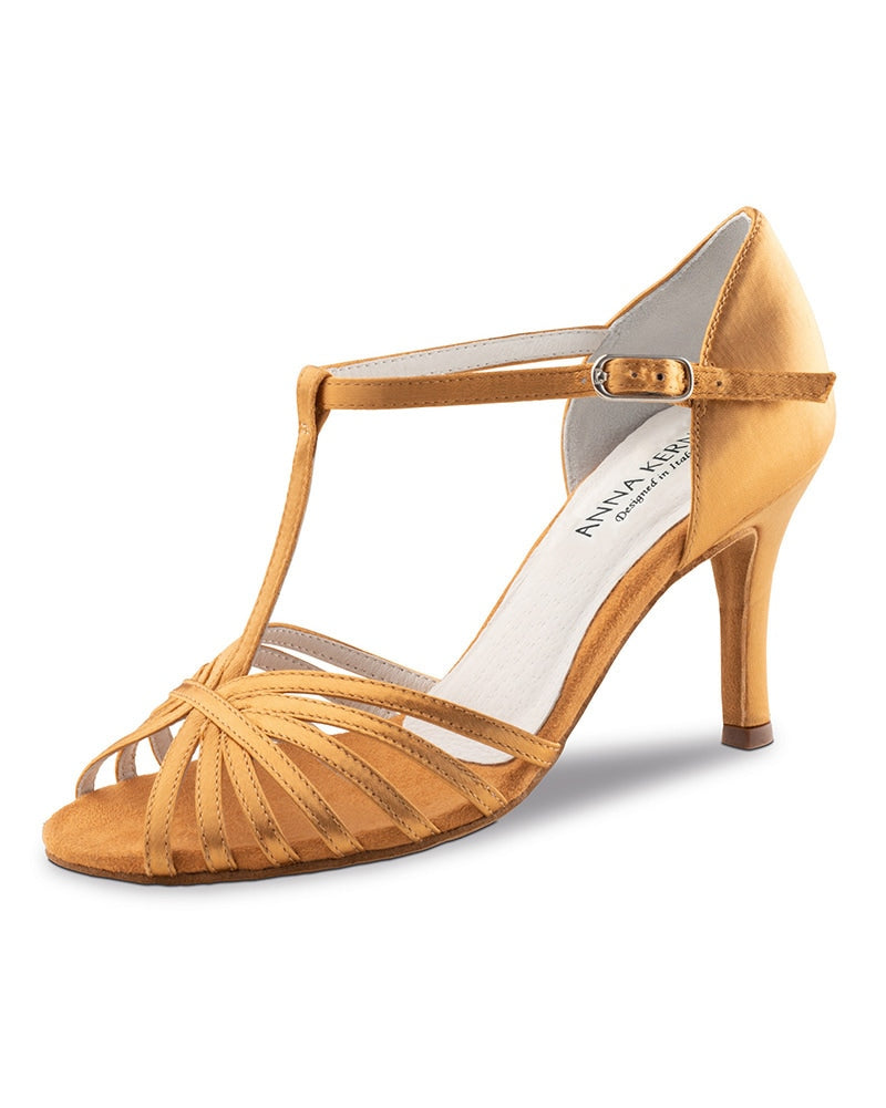Werner Kern T-Strap Satin Open Toe 7.5 cm Latin Ballroom Shoes - 850-75 Womens - Dance Shoes - Ballroom & Salsa Shoes - Dancewear Centre Canada