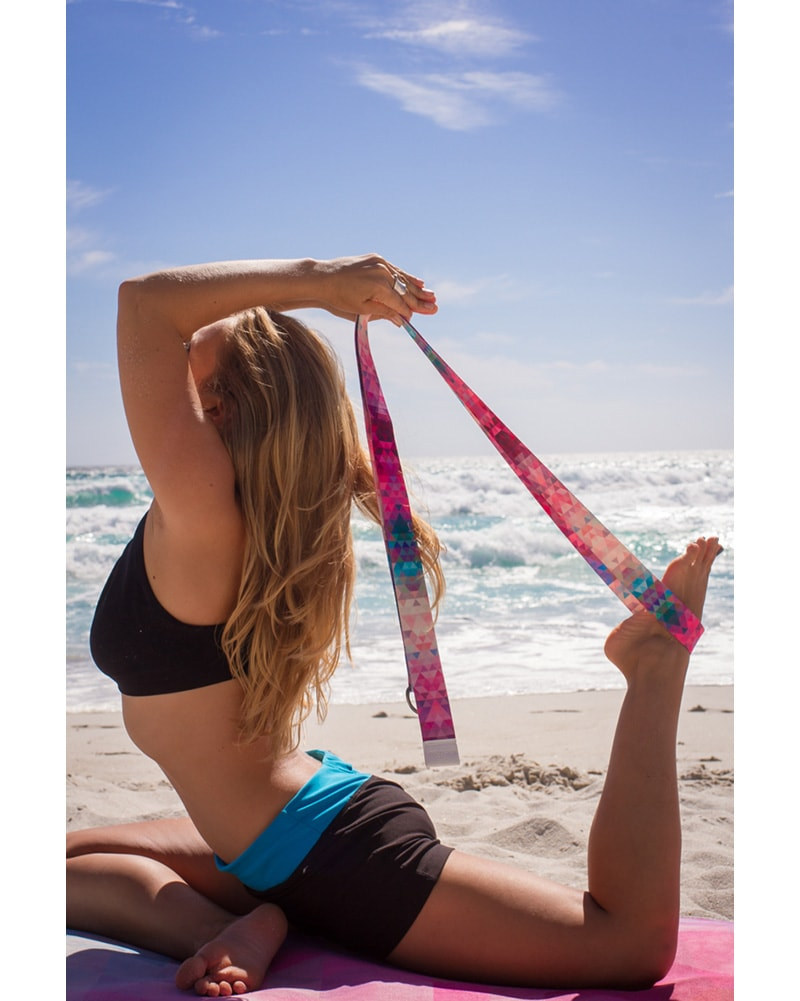 Yoga Design Lab Yoga Strap 240cm - Tribeca Sand Print - Accessories - Yoga - Dancewear Centre Canada