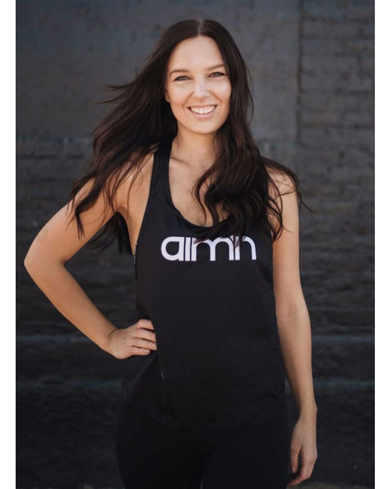 aimn Loose Fit Singlet Top - Womens - Black - Activewear - Tops - Dancewear Centre Canada
