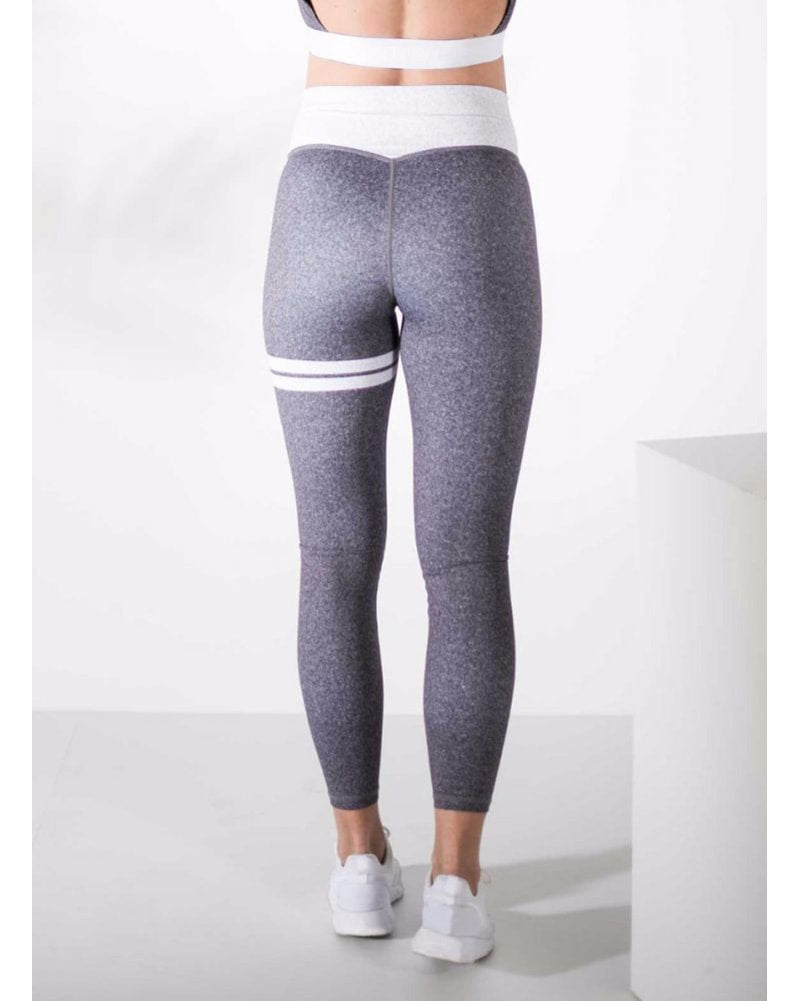 aimn Signature Legging - Womens - Grey Melange - Activewear - Bottoms - Dancewear Centre Canada