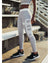 aimn - Grey Stripe Legging Womens