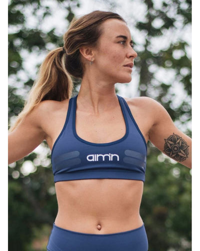aimn - Navy Tribe Bra Womens - Activewear - Tops - Dancewear Centre Canada