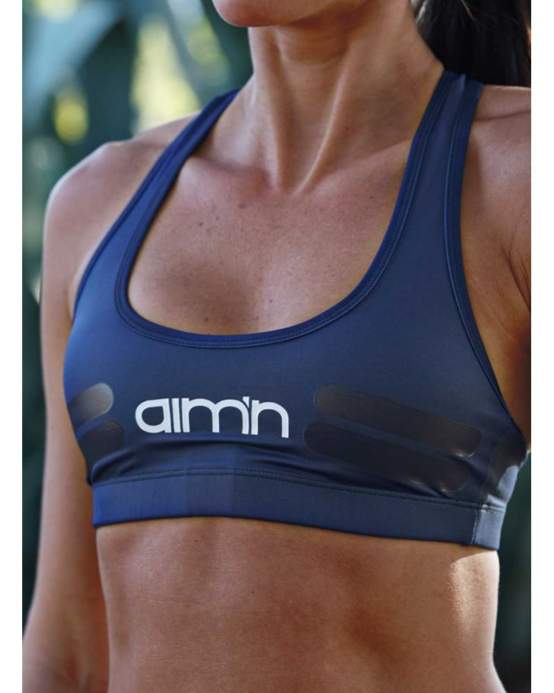 aimn Tribe Bra - Womens - Navy - Activewear - Tops - Dancewear Centre Canada