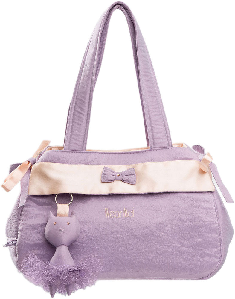 Wear Moi Satin Textured Bow Dance Bag - DIV 67 - Lilac - Accessories - Dance Bags - Dancewear Centre Canada