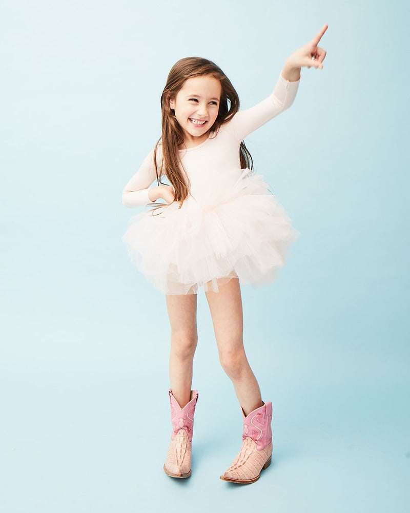 iloveplum B.F.F. Long Sleeve Tutu Dress - Girls - Shirley Light Pink