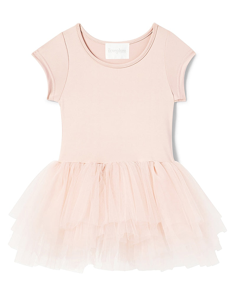 iloveplum Bestie Short Sleeve Tutu Dress - Girls - Shirley Light Pink