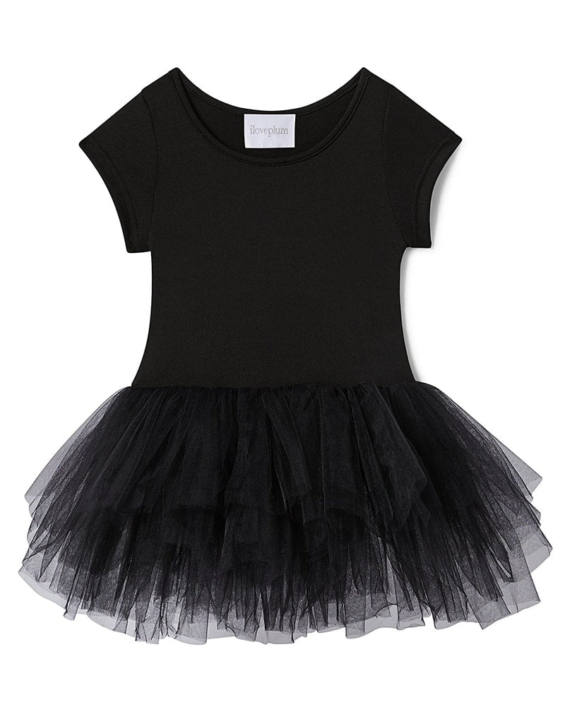 iloveplum Bestie Short Sleeve Tutu Dress - Girls - Stella Black