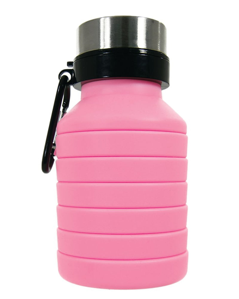 iscream Collapsible BPA Free Silicone Water Bottle - 870138 - Pink - Accessories - Water Bottles - Dancewear Centre Canada