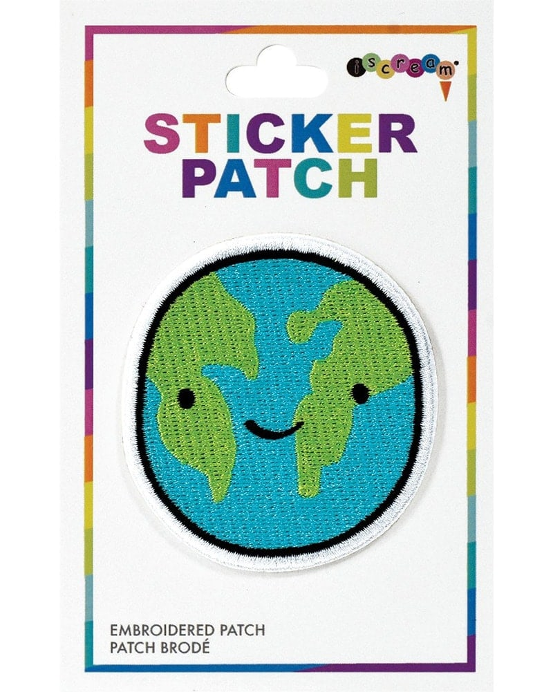 iscream Embroidered Sticker Patch - 700308 - Happy Planet - Accessories - Dance Gifts - Dancewear Centre Canada