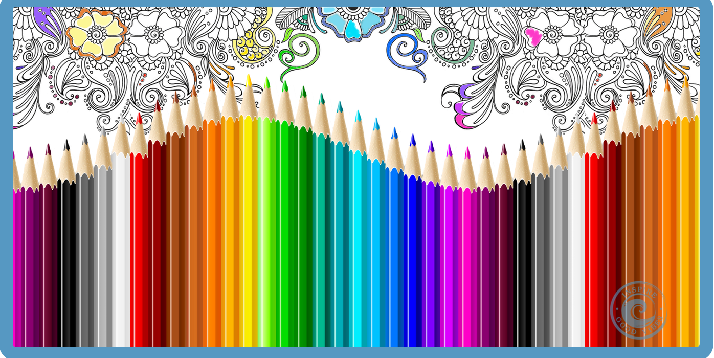 Adult coloring - Color your way to mindfulness, less stress and fun.