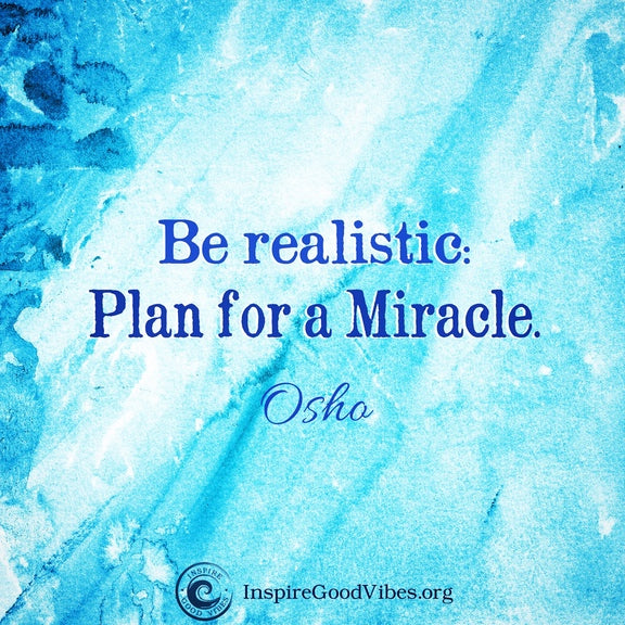Plan for a Miracle!