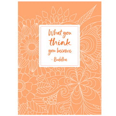 8 1/2 x 11 Notebook with Buddha quote