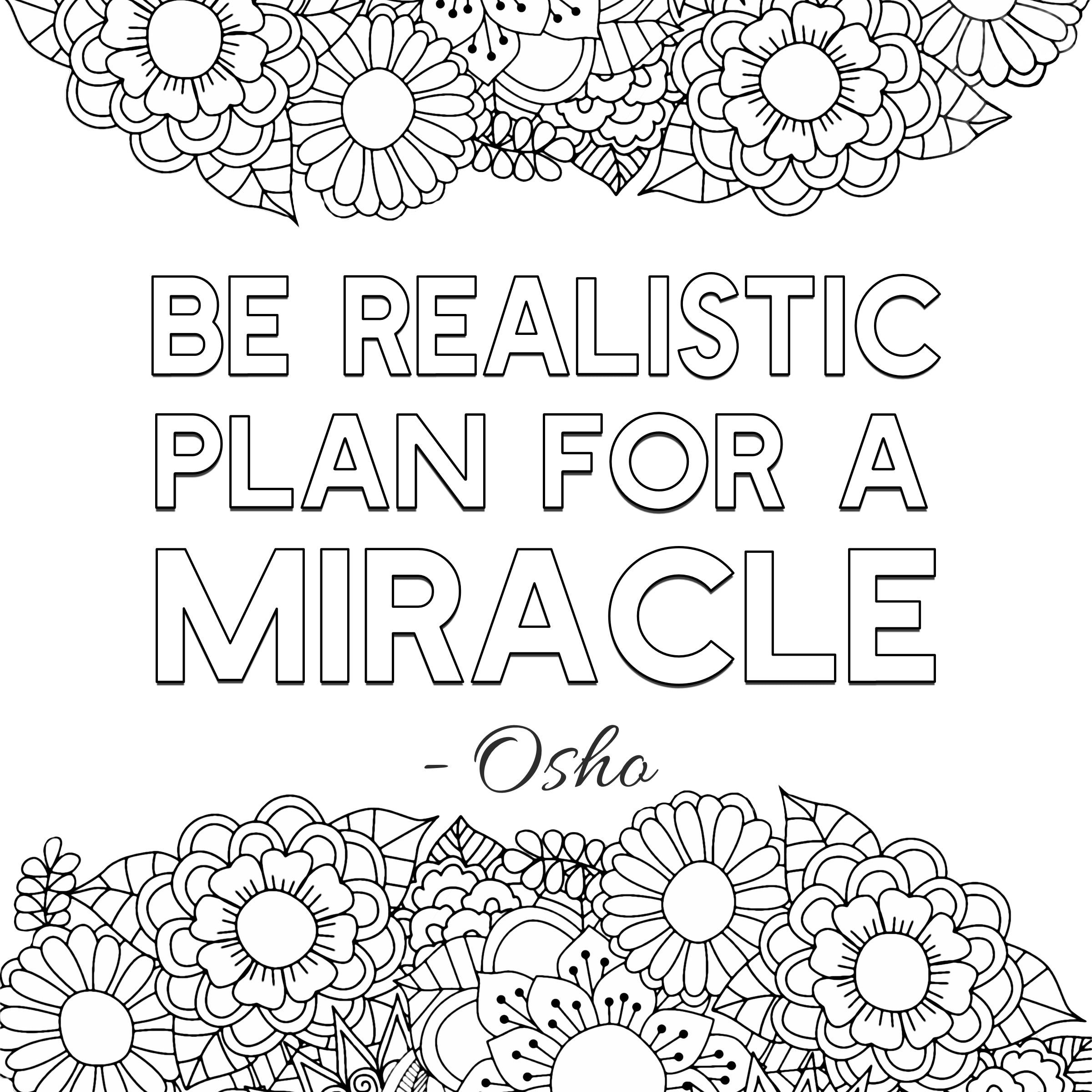 Free Printable Adult Coloring Pages Inspirational Quotes Inspire Good Vibes