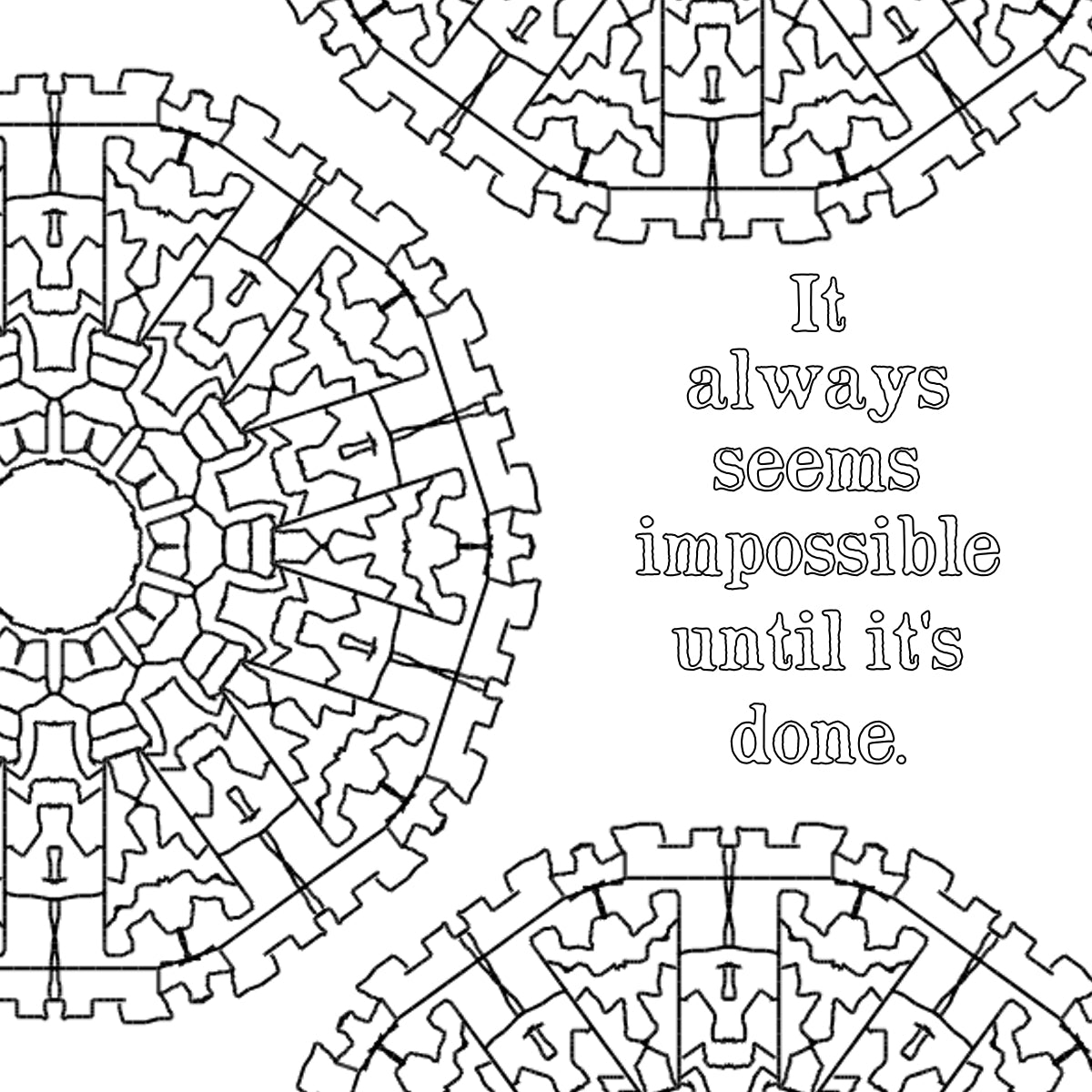 Free printable adult coloring pages- inspirational quotes