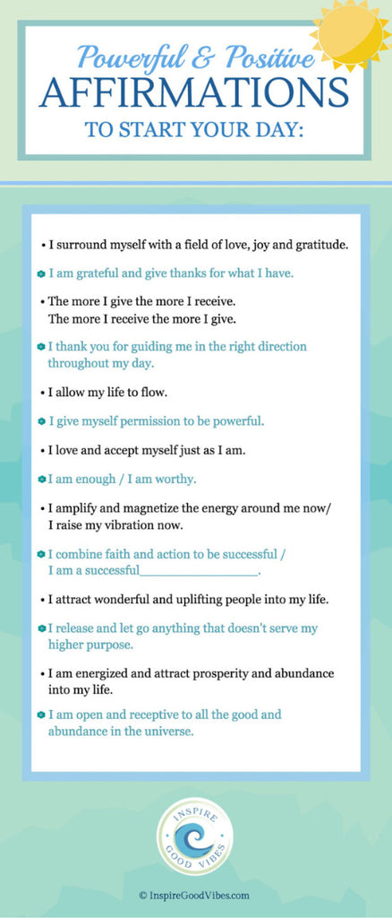 positive affirmations to say