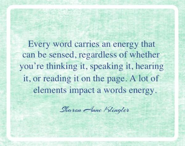 words have energy