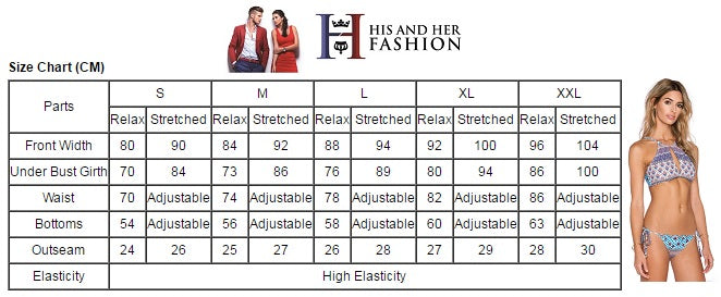 Women Swimsuit Size Chart