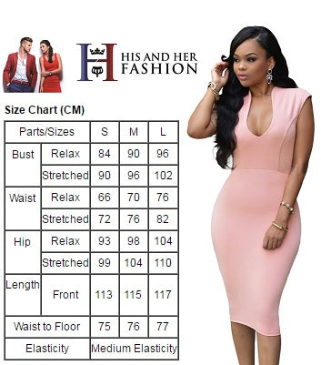 Masterful Fit Pink Low V Neck Her Knee Party Dress
