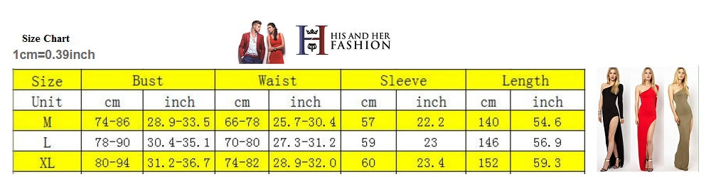 His and Her Fashion Women Dress Size Chart